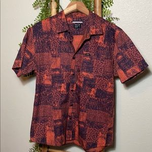 RVCA Button Down Dad Shirt Relaxed Fit men's Small